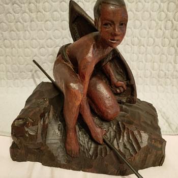UN JEUNE GUERRIER AFRICAIN - Fine Art