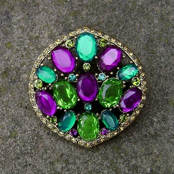 Monet Multicolor Brooch - Costume Jewelry