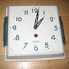 Antique 1940's French JAZ wall clock.