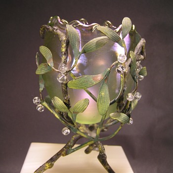 Loetz Mistletoe Olympia Vase - Art Glass