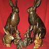 Pierre Chenet  Bronze Hare Sculptures