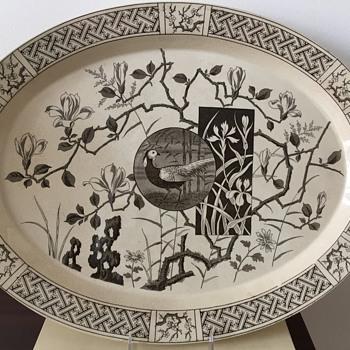 Large Minton Platter 1878 - Pottery