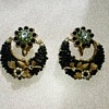 Lovely antique earrings with pine cones