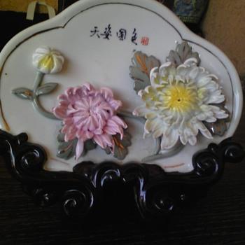 asian 3D flower plate