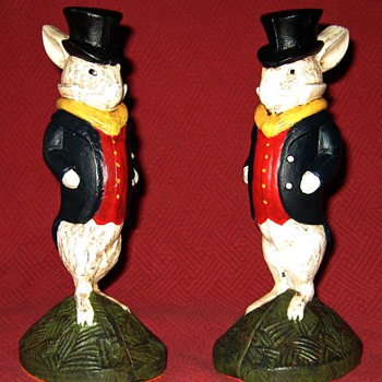 Well Dressed Gentlemen Rabbits - Animals