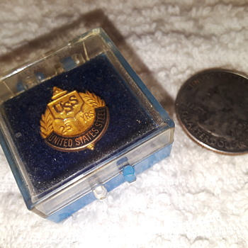 UNITED STATES STEEL 25 yrs pin - Medals Pins and Badges