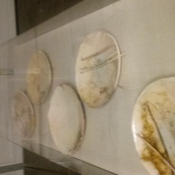 5 bowl display primitive bowls - Pottery