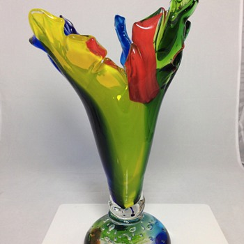 Help with Rainbow Glass Vase - Art Glass
