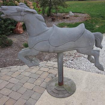 1950's Cast Aluminum Carousel Horse