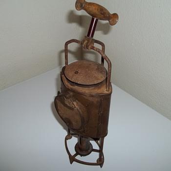 Antique Civil War Era?? Brass Candle Lantern