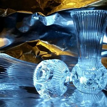 Cut Glass/Crystal Candlesticks - Lamps