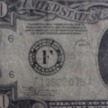 Unusual Twenty Dollar Silver Certificate - US Paper Money