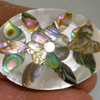 Vintage Abalone Inlaid Flower Brooch - Fine Jewelry
