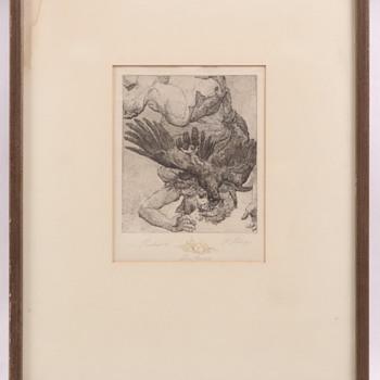 Der Rolle (The Role) Lithograph  - Fine Art