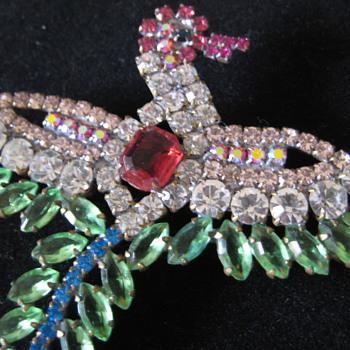 Rhinestone pins - Costume Jewelry