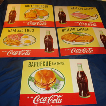 1957 Coca-cola Cardboard easel back signs - Coca-Cola
