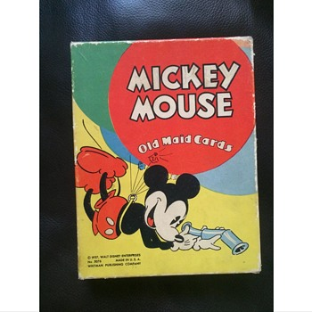1937 Mickey Mouse old maid card game - Cards