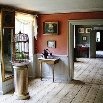 Interiors from a Danish home, early 19th century. - Furniture