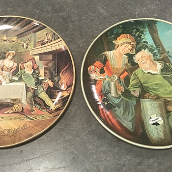Falstaff tin advertising chargers 1970's  - Breweriana