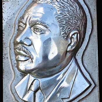 Unique Civil Rights artifact. 1968 Martin Luther King Jewelry Metal Die Mold from Knobby Krafters of Attleboro MA - Politics