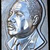Unique Civil Rights artifact. 1968 Martin Luther King Jewelry Metal Die Mold from Knobby Krafters of Attleboro MA