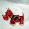 Lucite Scotty Dog Pin
