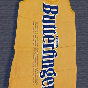 Important 1960's Pop Art BUTTERFINGER Paper Dress  - Womens Clothing