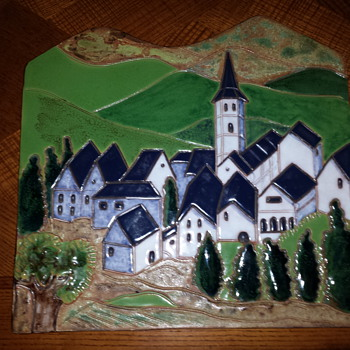 large wall plaque - Pottery