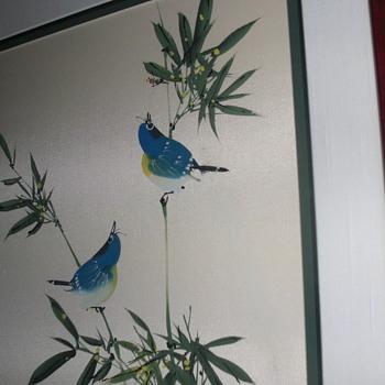 bluebirds on silk - Asian