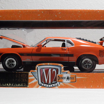Die Cast 1970 Orange Mustang Mach 1 428 Twister Special - Model Cars