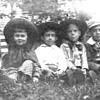 3 prints of boys n camps around 1900, and nice print of 4 kids