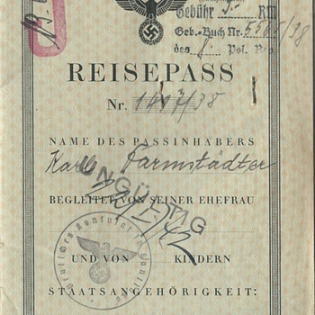 Hero of the Holocaust -  J stamped passport