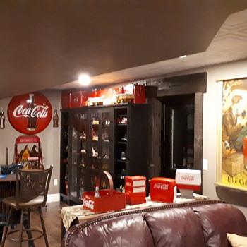 1952 coca cola cardboard poster - Coca-Cola