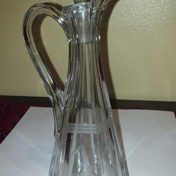 pretty little glass cruet with stopper - Glassware