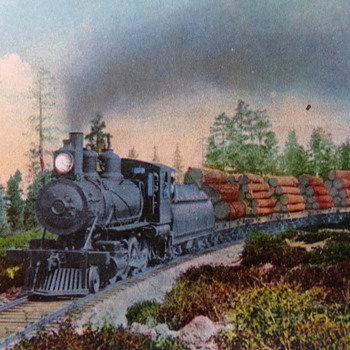 Logging Train in the West - Postcards