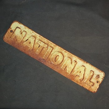Vintage National Fence Company Sign Embossed - Advertising
