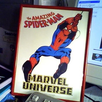 1987 SPIDERMAN BROCHURE with FRAME - Advertising