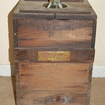 Early 1960's 5-gallon Coca Cola Syrup Bottle in Wood Crate - Coca-Cola