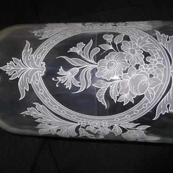 Old vintage parfume Glass jar