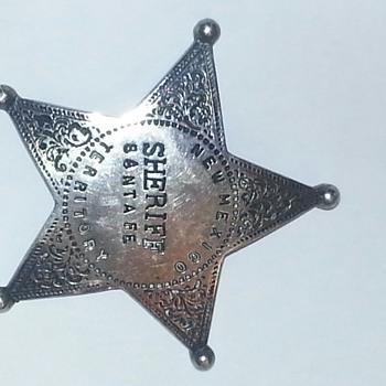 1800s New Mexico Territory Santa Fe  - Medals Pins and Badges