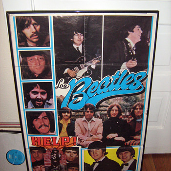 RARE Spanish Beatles Poster - Music Memorabilia