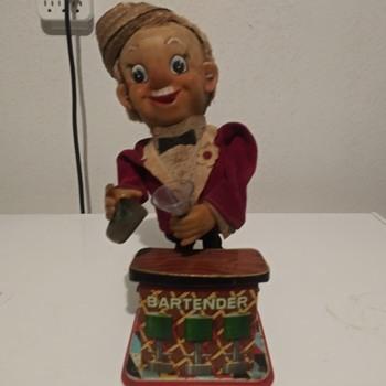 1960s Rosko Tin Litho Bartender - Toys