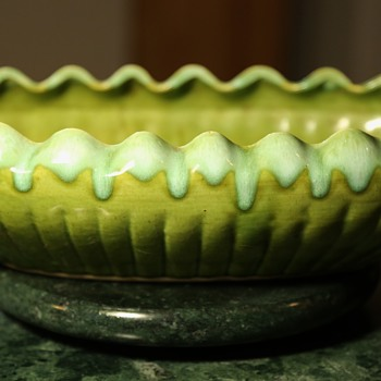 California Pottery Compote Dish or Ikebana?? - Pottery