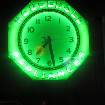 8 sided Household appliances neon clock - Advertising