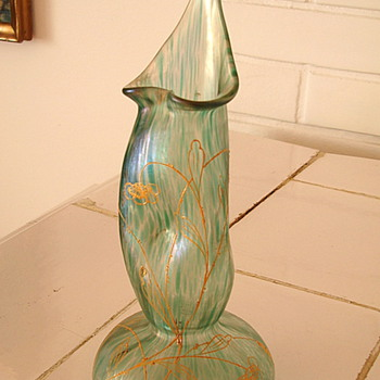Loetz 1898 Series I Production Nr. 7646 JIP Decorated Ciselé Vase - Art Glass