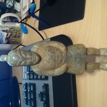 Old Terracotta Warrior Chinese Soldier Statue carved Stone