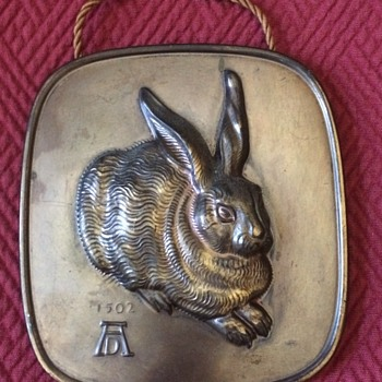 "Bronze Plaque Of Albrecht Durer's Famous ""Young Hare"" Painting - Animals"