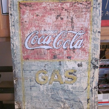 Old tin Coca Cola Sign Embossed - Coca-Cola