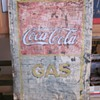 Old tin Coca Cola Sign Embossed