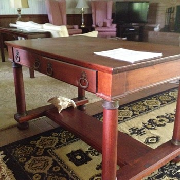 Fond Memories of old cherry wood Library Table - Furniture